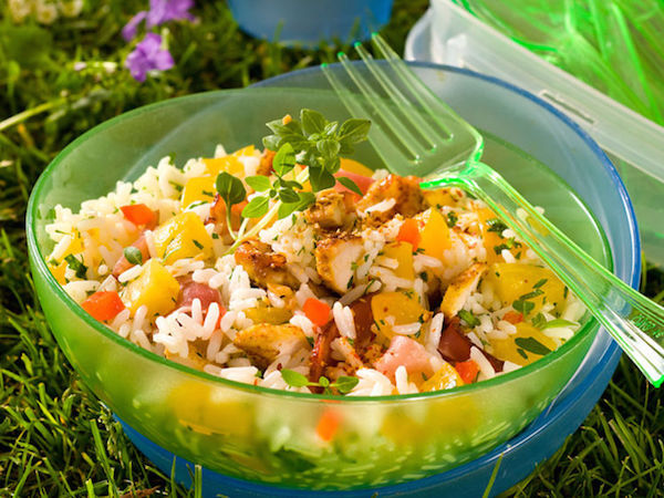 Salade de Riz au Poulet et aux Abricots