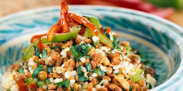 Photo Recette Salade de Riz et Lentilles à L'indienne