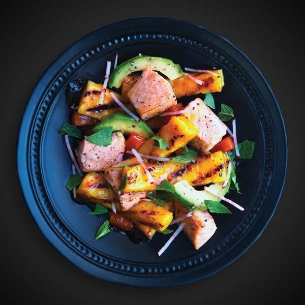 Salade de Saumon et D'ananas Grillés