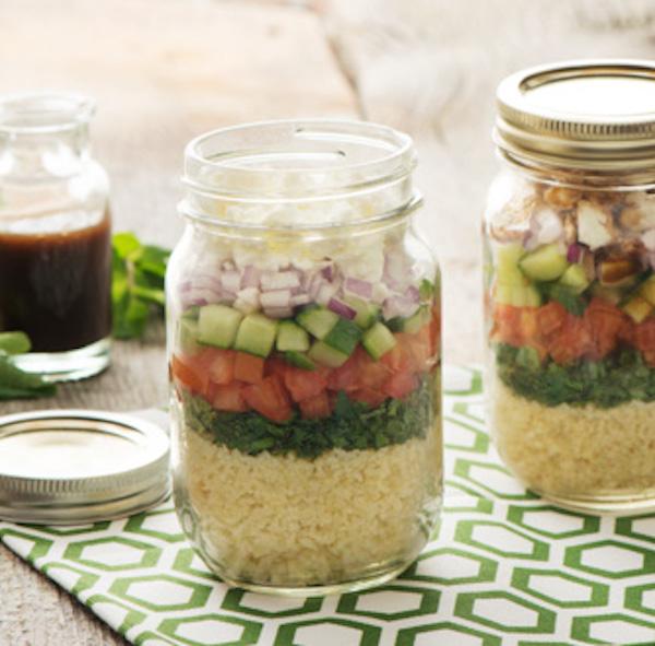 Salade de Taboulé Étagée en Pot