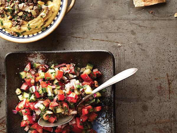 Salade de Tomates, Concombre et Persil