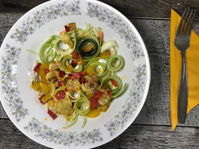 Salade de Zucchinis et Légumes Rôtis