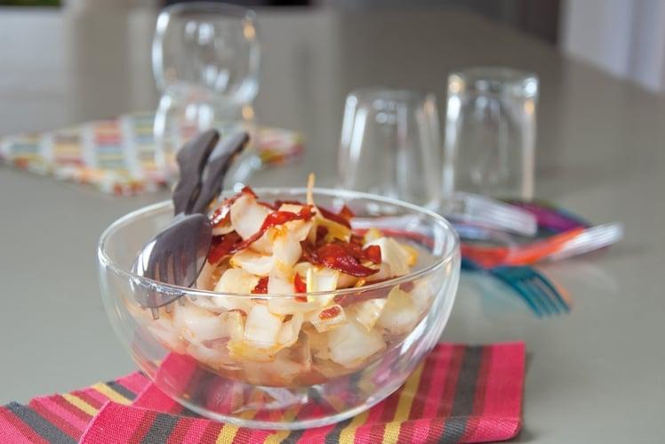 Salade D'endives au Chorizo Croustillant