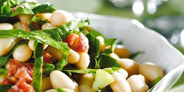 Salade D'épinards au Chorizo et aux Haricots