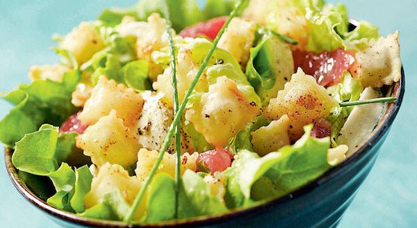 Photo Recette Salade D'été aux Ravioles Frites