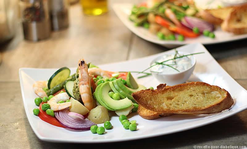 Photo Recette Salade Fraîcheur aux Crevettes et Cervelle de Canut