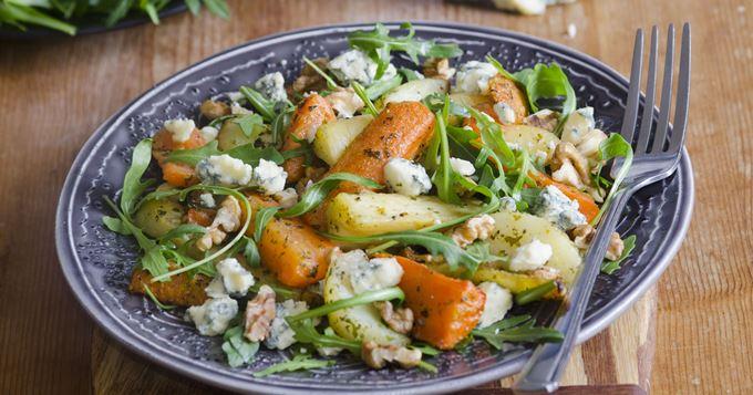 Salade Froide de Carotte et de Panais au Roquefort
