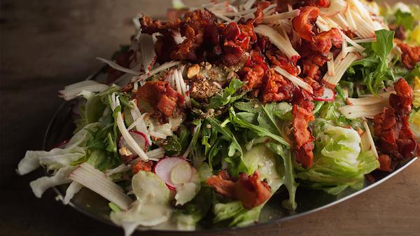 Photo Recette Salade Iceberg à la Pomme Amandes et Bacon