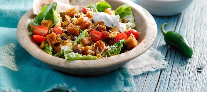 Photo Recette Salade Mexicaine de Courge et de Légumineuses