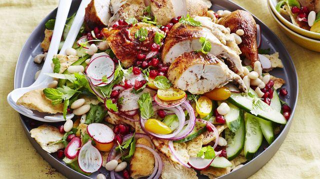 Photo Recette Salade Orientale Haricots-Concombre