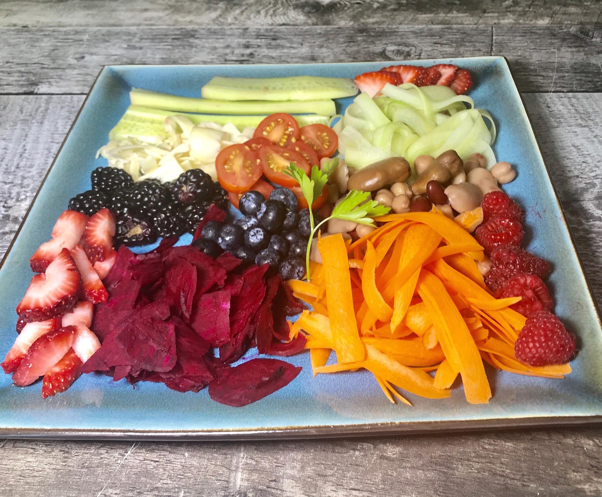 Photo Recette Salade Santé Savoureuse Fruits et Légumes avec Légumineuses