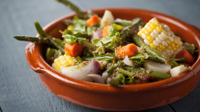 Salade Tiède de Légumes en Papillote