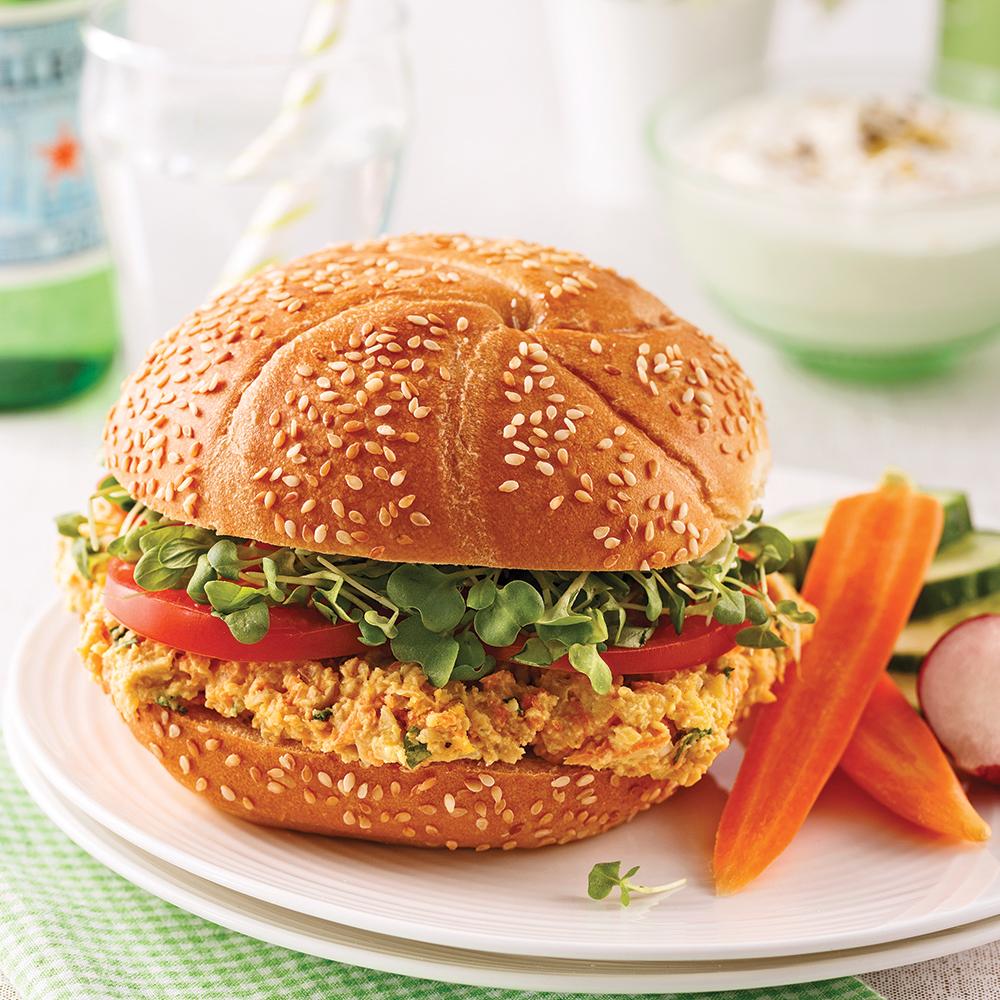 Photo Recette Sandwich à la Tartinade de Pois Chiches