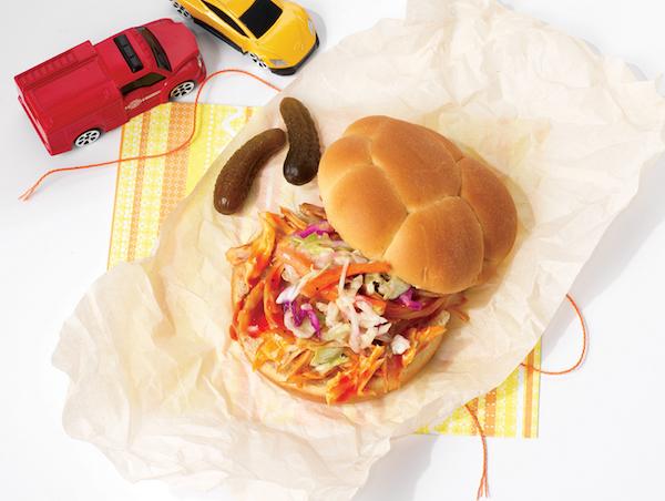 Sandwich au Poulet Effiloché