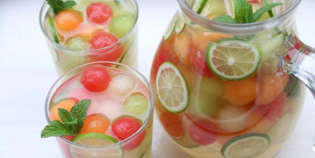 Photo Recette Sangria au Melon ainsi que sa Version Sans Alcool