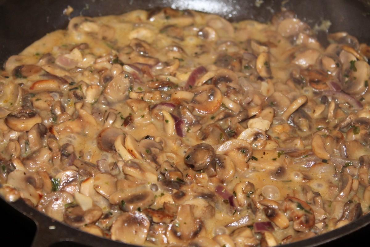 Photo Recette Escalopes en Sauce Forestière aux Champignons