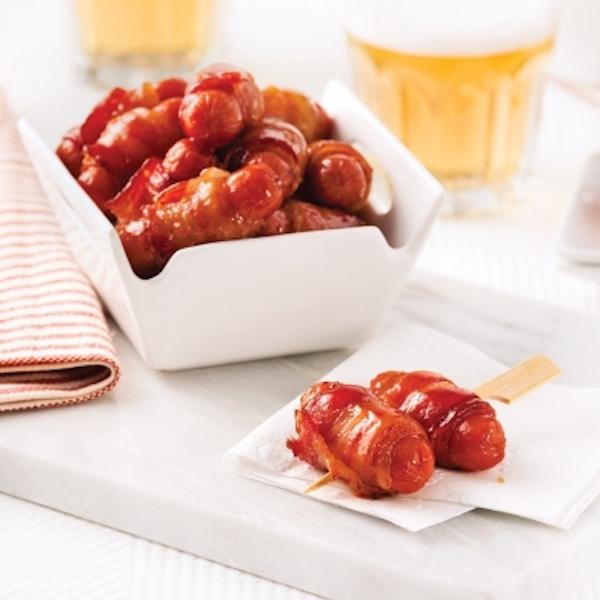 Saucisses Cocktail au Bacon Cuites au Four