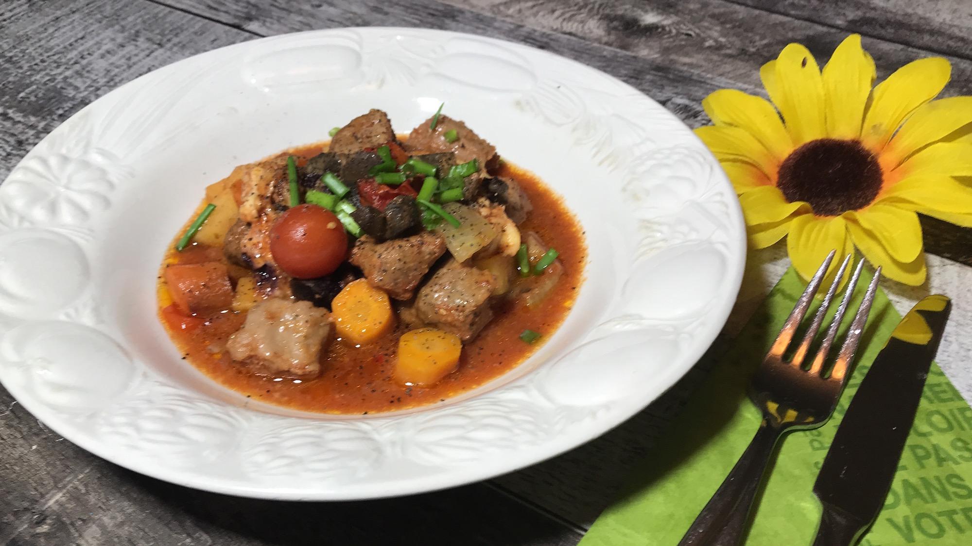 Saucisses Italiennes et Légumes à la Mijoteuse
