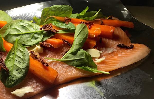 Saumon aux Épinards et Tomates Séchées au Soleil 8