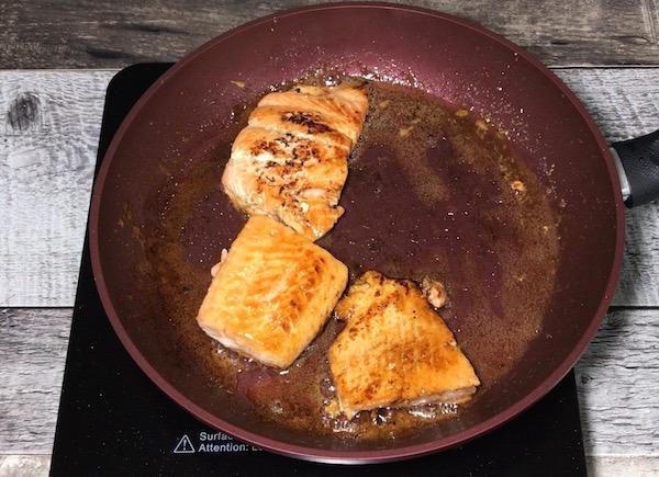 Saumon Cuit avec Vinaigre Balsamique 1
