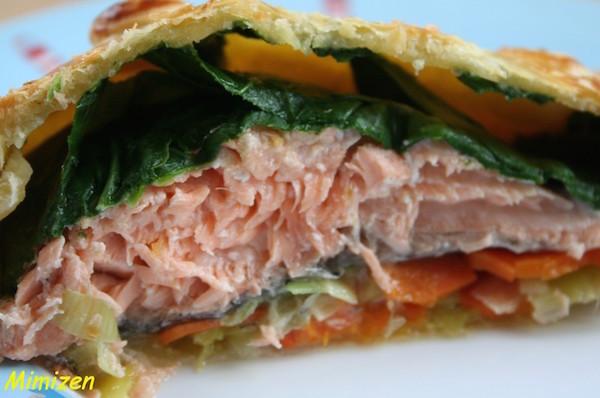 Photo Recette Saumon en Croûte à la Julienne de Légumes de Mercotte