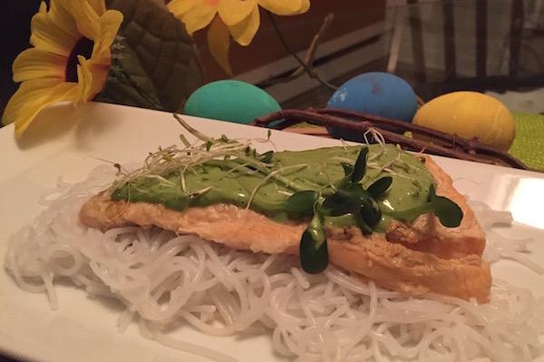 Saumon sur Lit de Vermicelle pour Pâques
