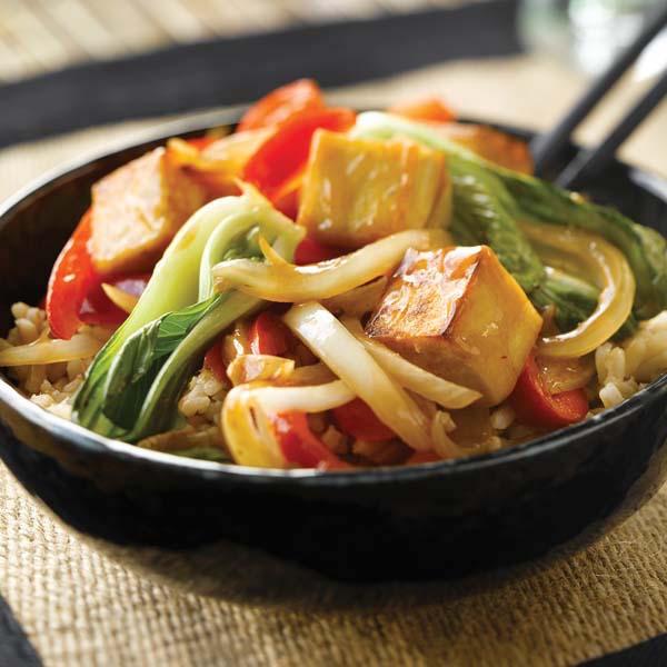 Sauté au Pak-choï et au Tofu aux 5 Épices