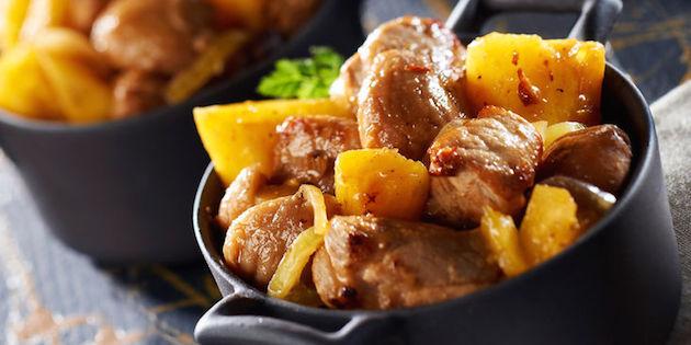 Sauté de Porc Breton à L'ananas et aux Marrons