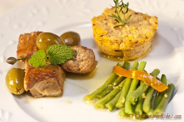 Photo Recette Sauté de Veau au Citron, au Thym et aux Olives Vertes