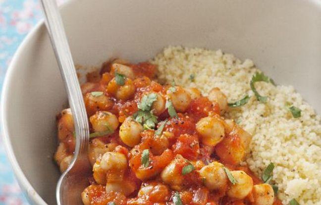 Photo Recette Semoule aux Pois Chiches et à la Tomate