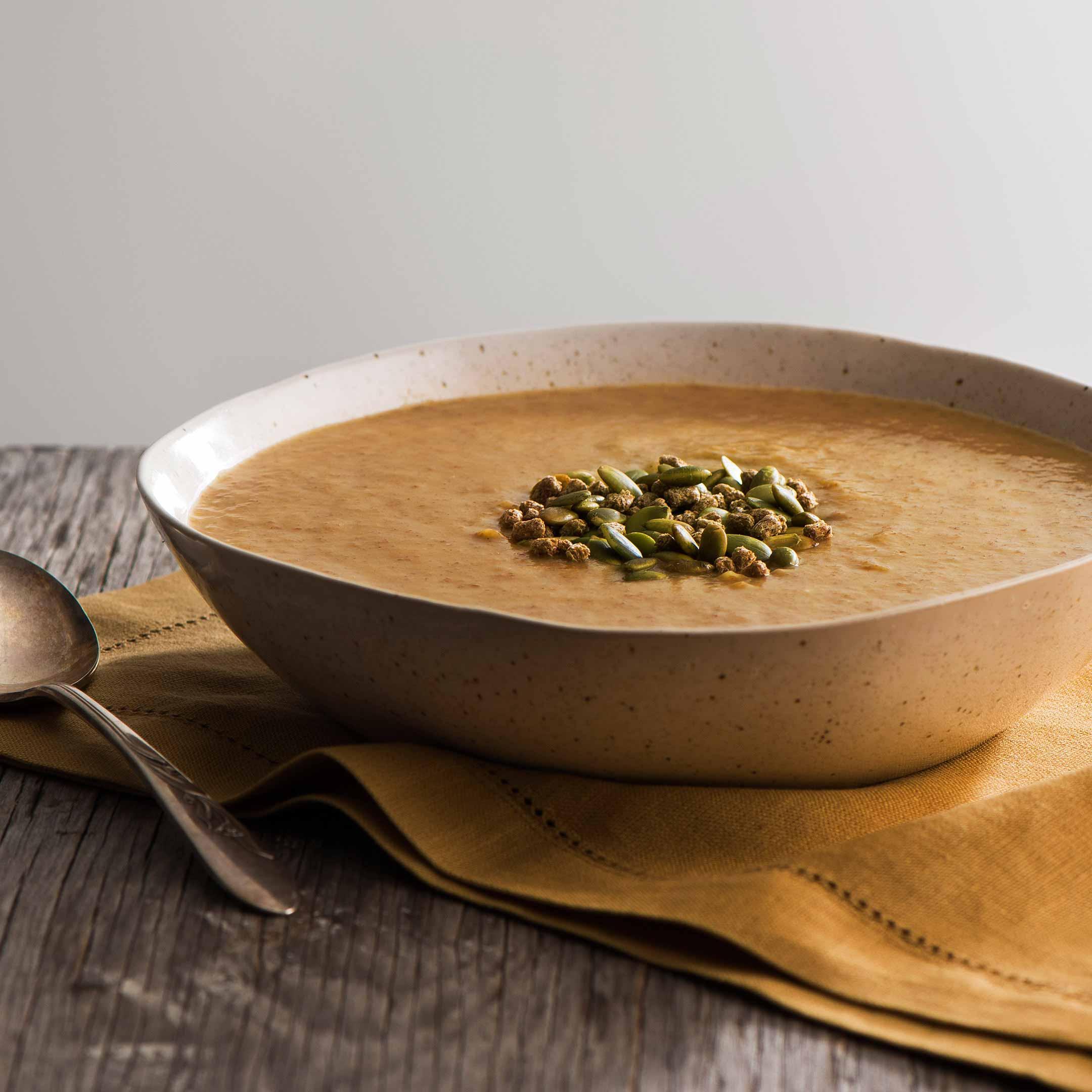 Soupe à la Courge Musquée et aux Pommes de Terre