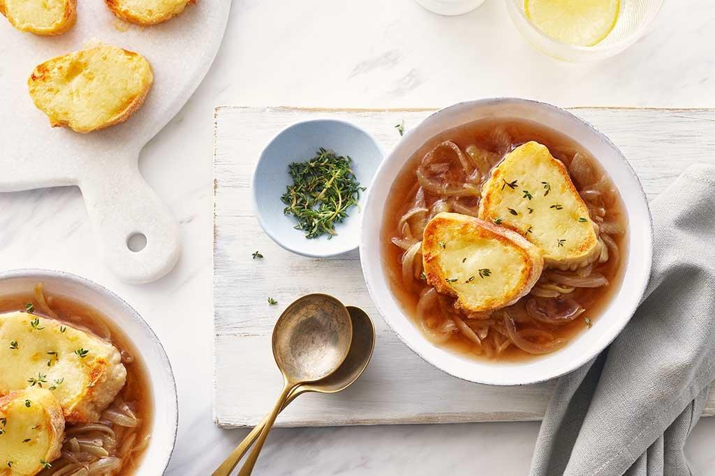 Photo Recette Soupe à L'oignon Simple et Rapide