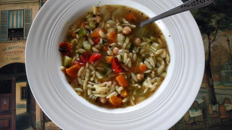 Soupe à L'orzo et aux Légumes à la Nickey