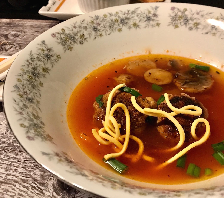 Photo Recette Soupe Asiatique avec Boulettes de Viande