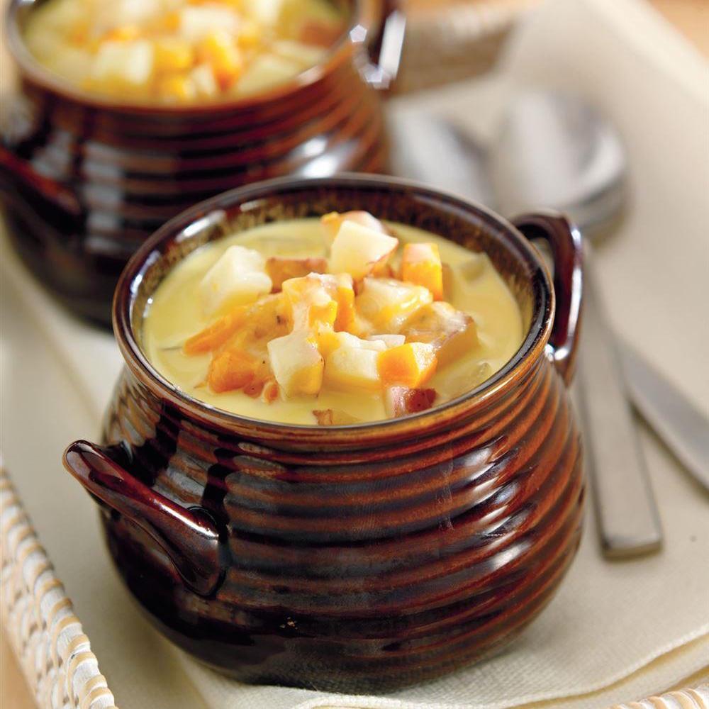Soupe Au Cheddar Et Aux Pommes De Terre