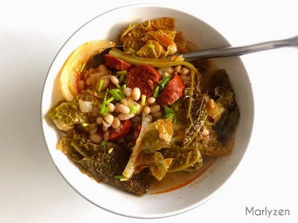 Soupe au Chou Frisé, Haricots et Chorizo