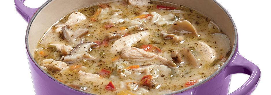 Photo Recette Soupe au Poulet ThaÏ et Riz
