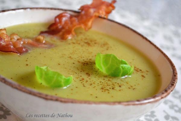Soupe aux Choux de Bruxelles et Lard Grillé