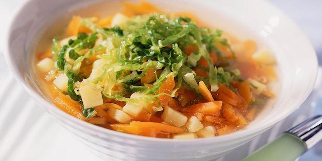 Soupe aux Légumes et au Chou