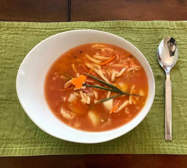 Soupe aux Légumes et Nouilles aux Oeufs 12