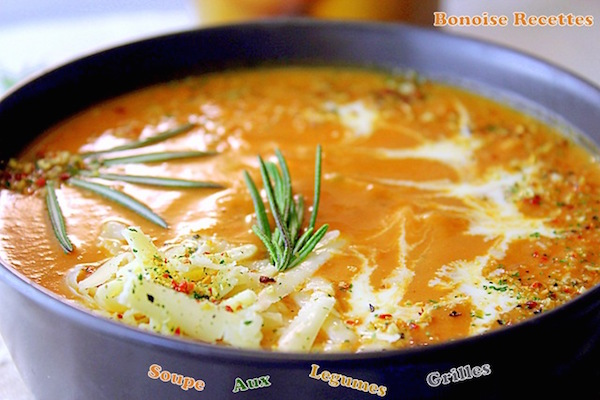 Soupe aux Légumes Grillés