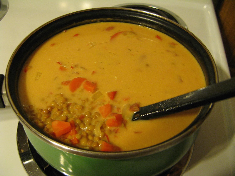 Photo Recette Soupe aux Lentilles Rouges à L'idienne