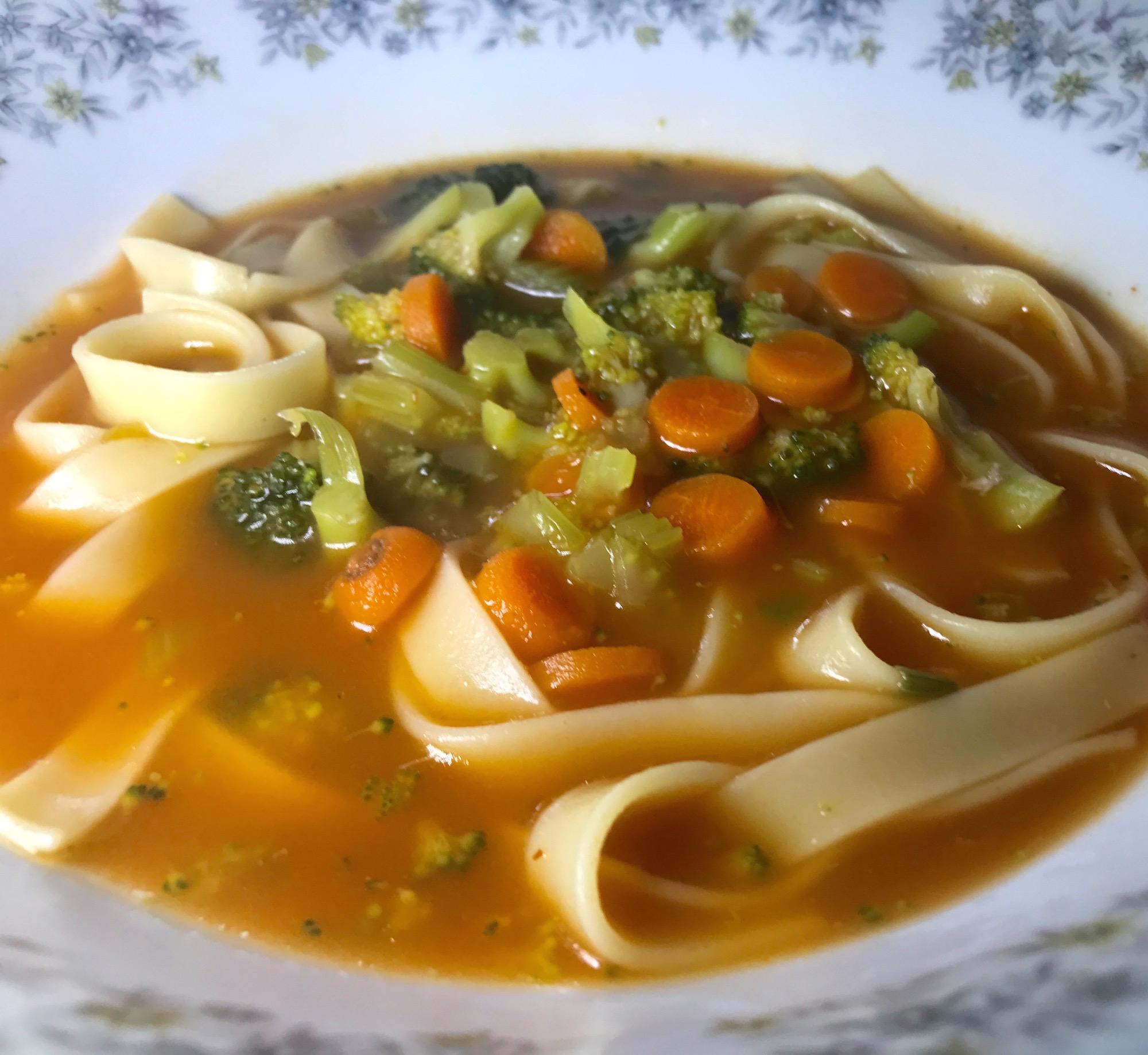 Photo Recette Soupe aux Pâtes et Légumes du Jardin