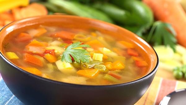 Soupe aux Poivrons Tomates et Boeuf