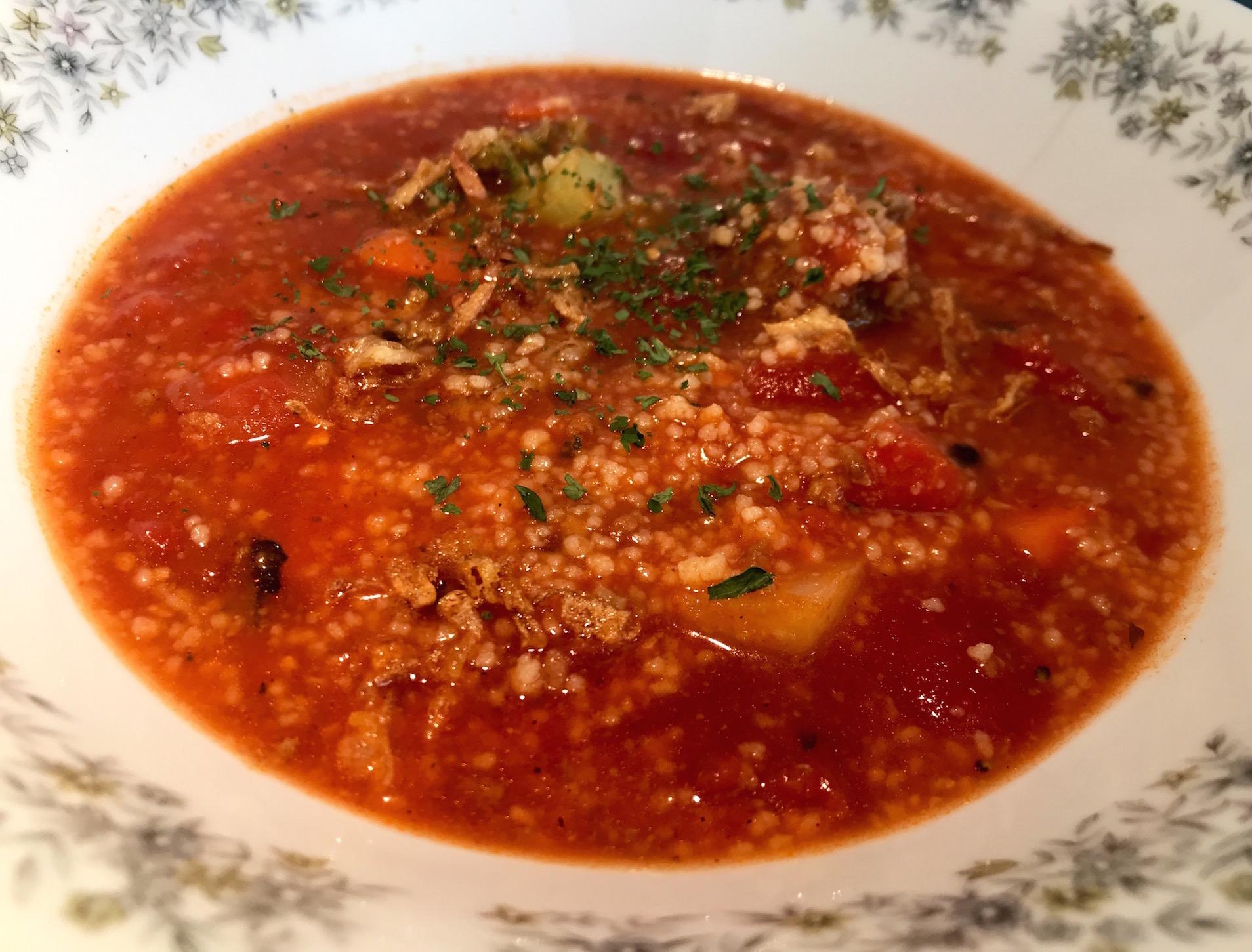 Photo Recette Soupe aux Tomates, Légumes et Couscous