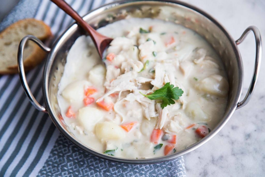 Soupe Crémeuse à la Dinde et aux Pommes de Terre