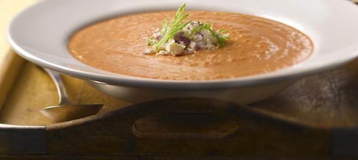 Photo Recette Soupe Crémeuse aux Tomates et Fenouil Rôtis avec Fromage Feta