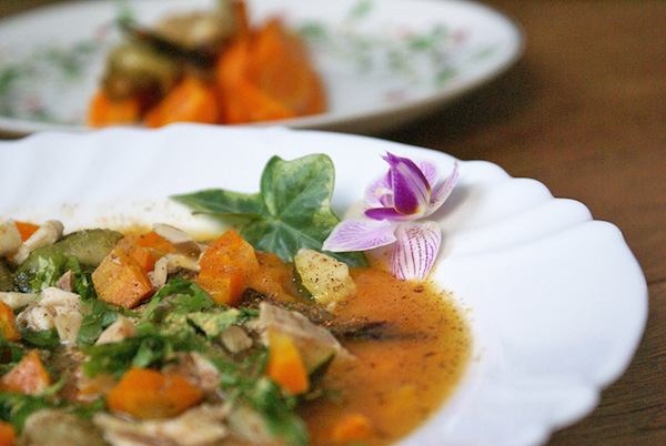 Photo Recette Soupe D'automne au Poulet, Butternut & Noix de Muscade {sans gluten, sans lait}