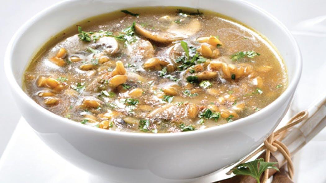 Photo Recette Soupe de Champignons à L'épeautre (anti-reflux)