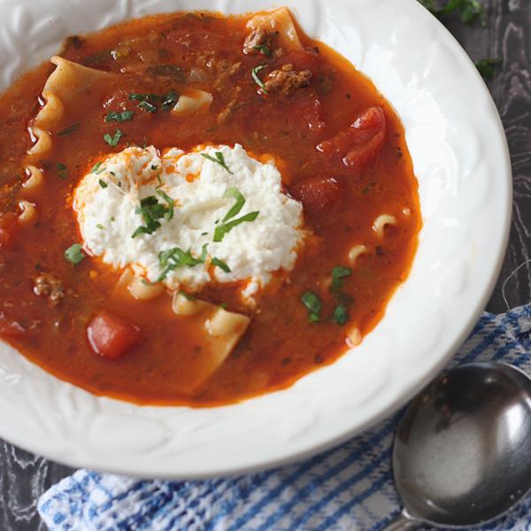 Soupe de Lasagne